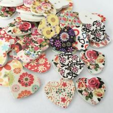 [EL] Many 2-hole Mixed Heartwood Buttons For Sewing Scrapbook Diy Crafts