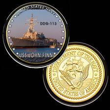 USS John Finn (DDG-113) GP Challenge pinted Coin