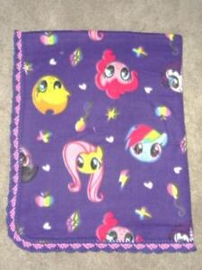 """TODDLER/TWIN QUILT - MY LITTLE PONY IN  PURPLE AND FUSHIA PINK - 46""""X58"""""""