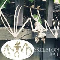 Creepy Skeleton Bat Bones Halloween Decor Scene Home Party Decor Scary Prop J6T3