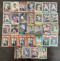 WADE BOGGS Baseball Card Lot Topps,Upper Deck,Donruss,Fleer,Red Sox,Yankees ++