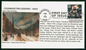 MayfairStamps US FDC Unsealed 1998 Ash Can School Paintings BGC First Day Cover