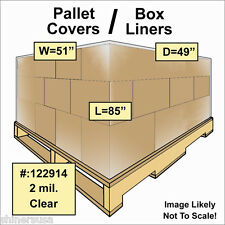 2 mil Pallet Covers / Bin Box Gaylord Liners 51x49x85 Clear Roll/50 122914