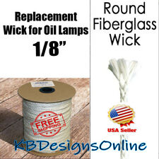 "1/8"" Fiberglass Replacement Oil Lamp Tiki Torch Candle Wick"