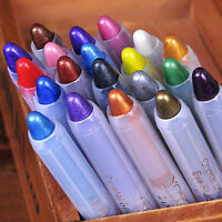1X Glitter Crayon Lipstick Lip liner Pencil Eye Shadow Eyeliner Pen Women Makeup