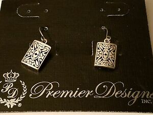 Premier Designs earrings silver  (rare)