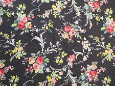 Anna Griffin Fabric GRACE Scroll Floral Black CF-1604 Cotton Quilt Sewing 3/4 Yd