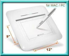 "großes Grafik Tablet 12 x 9""   BRAUN Tavla 12   für PC/Mac, USB, Stift kabellos"