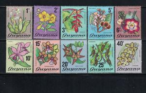 Br CW: Guyana 1971-1972: #133-142 Flowers, Flora, Plants VLH:Lot#2/14