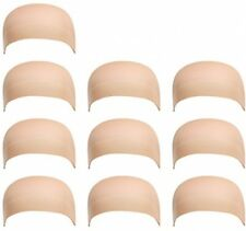 Nylon Wig Caps Skin Color Stretchy Stocking Wig Caps Natural Nude Beige 10 Pack