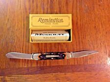 VINTAGE REMINGTON R4466 1988 DELRIN REMSTAG SCALES MUSKRAT NS BULLET KNIFE MINT!