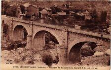 CPA  Le Cheylard - Le Pont de Sauzet et la Gare C. F. D.  (484855)