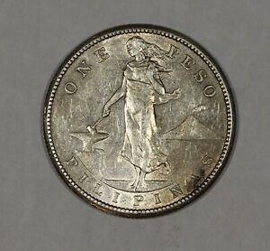 1908-S U.S. Philippines Silver 1 Peso