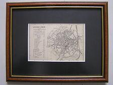 Antique framed map Leuven Belgie / carte Louvain / karte Löwen 1897
