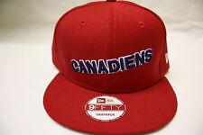 Authentic New Era 9Fifty Canadiens Snapback Cap Hat Flat Brim American  NEW