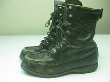VINTAGE MILITARY GREEN DISTRESSED MADE IN USA SEARS SPORT BOOTS SIZE 8 B