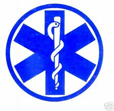 STAR OF LIFE EMS EMT PARAMEDIC STATIC Inside Window Decal