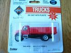 Boley HO 185-403411 International 2-Axle Long Closed Stakebed Truck -- red