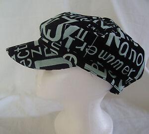 SPORTY LIGHT GREEN LETTERS ON BLACK  HAT CAP
