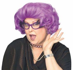 Dame Edna Purple Drag Queen Celebrity Las Vegas Mens Womens Costume Wig
