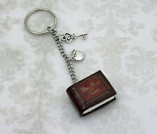 "Once Upon A Time Keychain ""Henry's Book"" Poison Apple and Queen's Keys OUAT ABC"