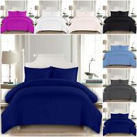 Polycotton Duvet Cover Bedding Set with Pillowcase Single Double King Super King