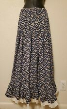 Vintage 90s Cactus Flower Lace Boho Floral Maxi Skirt Prairie Cottage Peasant SZ