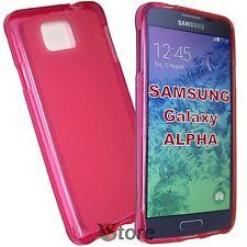 Cover Custodia Per Galaxy Alpha G850 G850F FUCSIA Silicone Gel TPU + Pellicola