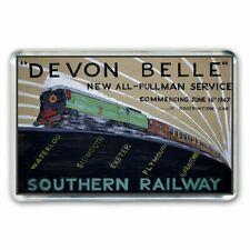 RETRO  - DEVON BELLE PULLMAN SOUTHERN RAILWAY  POSTER ART- JUMBO FRIDGE MAGNET