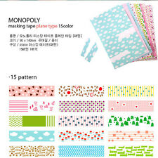 15 Pattern Diary Decorative Adhesive Vintage Plant Tap  Stickers Craft Decal