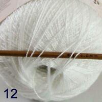 Thread No.8 Cotton Crochet Thread Yarn Craft Tatting Knit Embroidery 50g/400y 12