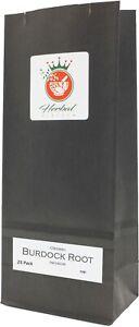 Organic Burdock Root Pure Herbal Infusion (25 Tea Bags - Unbleached)