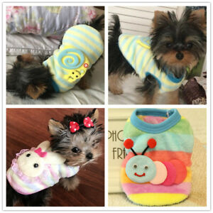 Teacup Chihuahua Dog Clothes Puppy Cat Outfit Yorkie Apparel Size XXXS XXS XS