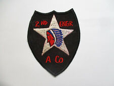 Patch - US Army A Company 2nd ENGINEER 2nd INFANTRY Division Patch