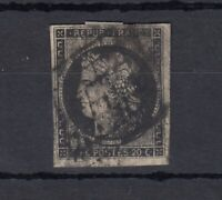France 1850 20c Ceres Imperf Good Margins SG9 Used J4453