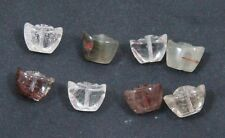 Natural RUTILATED QUARTZ chinese ingots bead / strand 12mm x 8mm - 8 beads