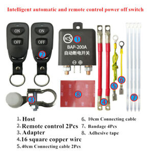 Car Battery Cut Off Isolator Master Kill Switch W/ Dual Wireless Remote Control