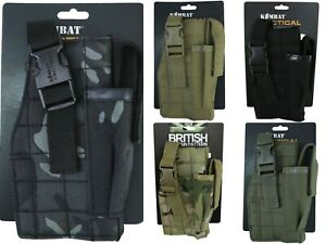 Kombat Molle Gun Holster Mag Pouch Airsoft Paintball Pistol Holder Army Webbing