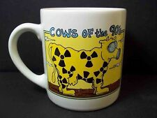Ceramic coffee mug COWS of the 60s and 90s Hippy Nuclear 10 oz Recycled Paper