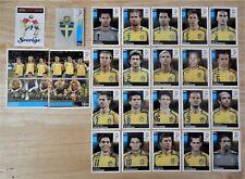 Panini UEFA Euro 2008 Austria/Switzerland Complete Team Sweden + Foil Badge