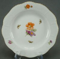 KPM Berlin Hand Painted Dresden Floral Butterflies & Gold Dessert Plate C.1915 C