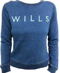Jack Wills Blue Pulborough Indigo Ladies Girls Sweatshirt Size 12 New Tagged
