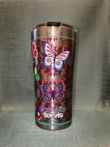 New Tervis 20 oz Stainless Steel Insulated Travel Tumbler Butterfly