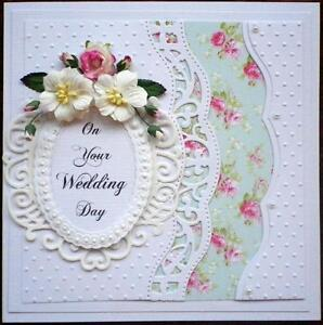 Hand made Wedding or Anniversary Card. Can be personalised