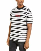 Guess Mens T-Shirt Black Size Large L Embroidered Logo Stripe Crew $49 #140