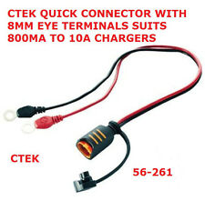 Ctek Quick Connector with 8mm Eye Terminals Battery 800mA to 10A CTEK 56-261