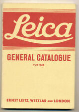"""Leica """"General Catalogue for 1936"""" ristampa anastatica in inglese D540 TRIS"""