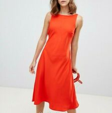 BOHO SKATER MIDI DRESS TIE UP SLEEVELESS CUT OUT WOMENS SUMMER Holiday Dresses