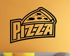 Pizza Shop Logo Wall Vinyl Decal Pizzeria Window Emblem Sticker Art Decor (6pzz)