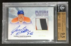 2011-12 SP Authentic Future Watch Limited Auto Patch Teemu Hartikainen 100 3 COL